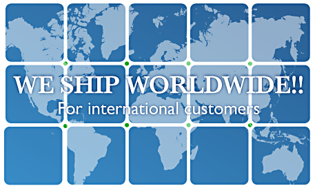 we ship worldwide for international customers